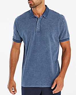 Washed Navy Polo
