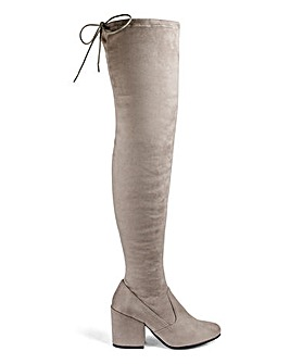 Irina Heeled Over The Knee Boots Standard Calf Wide E Fit
