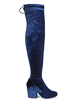 Irina Heeled Over The Knee Boots Super Curvy Calf Wide E Fit