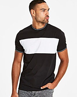 Jacamo Jacquard Collar T-Shirt Long