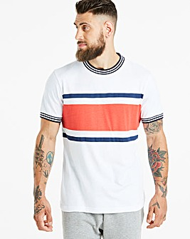Jacamo Retro Stripe T-Shirt Long