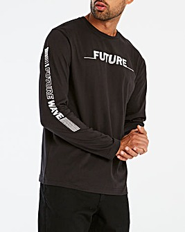 Jacamo L/S Printed Sleeve T-Shirt Long