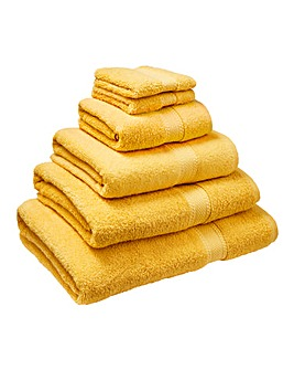 Supersoft Snuggle Towel Range- Mustard