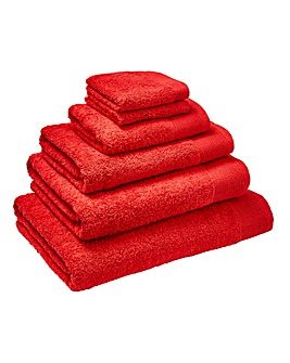 Egyptian Cotton Towel Range- Tomato