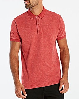 Jacamo Washed Red Polo Long