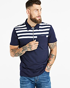 Jacamo Stripe Yoke Polo Regular