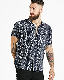 Jacamo Aztec Viscose Shirt Regular