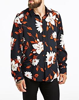 Jacamo Floral Print L/S Shirt Long