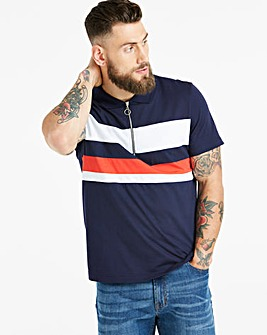 Jacamo Navy Panel Polo Long