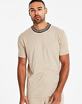 Jacamo Knitted Collar T-Shirt