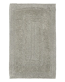 Reversible Cotton Bathmat- Grey