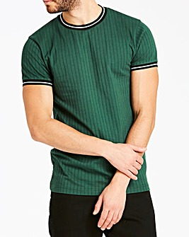 Jacamo Ribbed Fit T-Shirt Long