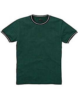 Jacamo Ribbed Fit T-Shirt Long