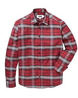 Jacamo Flannel Check L/S Shirt Long