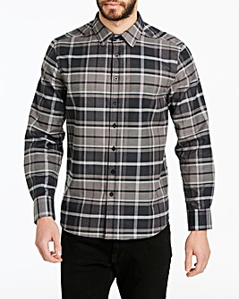 Jacamo Brushed Check L/S Shirt Long
