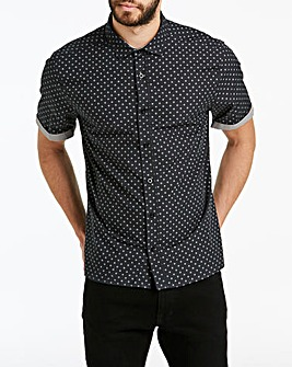 Jacamo Ditsy Print Shirt Long