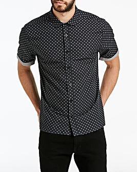 Jacamo Ditsy Print Shirt Reg