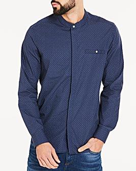 Jacamo Long Sleeve Grandad Collar Printed Shirt Regular