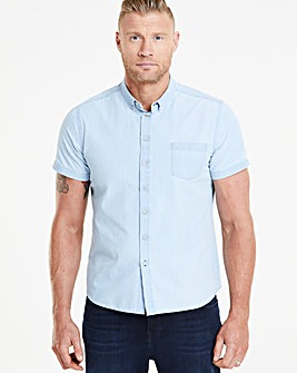 Flintoff by Jacamo S/S Denim Shirt L