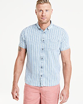 Flintoff by Jacamo Stripe S/S Shirt L