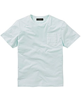 Flintoff By Jacamo Pastel Mint T-Shirt Long