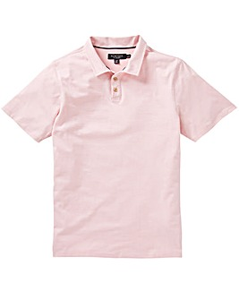 Flintoff By Jacamo Fine Stripe Polo L