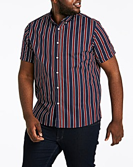 Jacamo Stripe S/S Shirt Regular