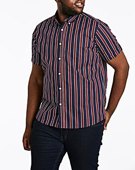 Jacamo Stripe Short Sleeve Shirt Long