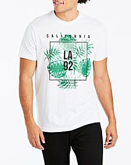 Jacamo LA Palm Print T-Shirt Reg