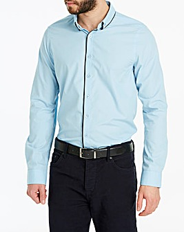 Blue Double Collar L/S Party Shirt
