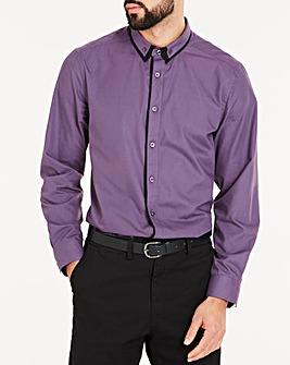 Purple Double Collar L/S Party Shirt L