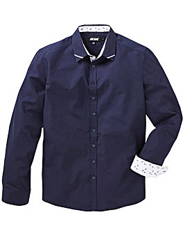 Navy Trim Detail L/S Party Shirt
