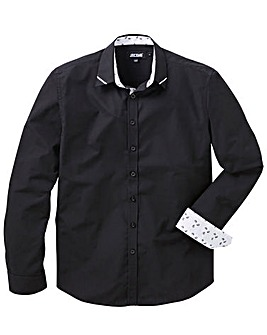 Black Trim Detail L/S Party Shirt R