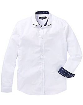 White Trim Detail L/S Party Shirt R