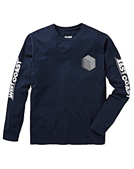 East West Navy L/S T-Shirt L
