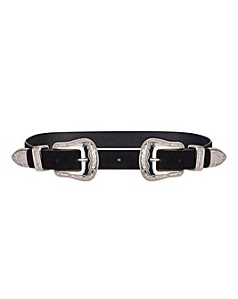 Double Buckle Western Waist Belt