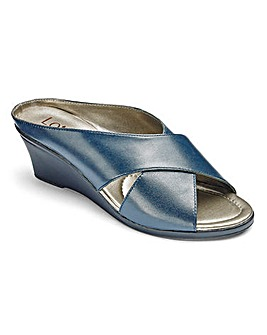 Lotus Leather Crossover Mule Sandals Standard D Fit