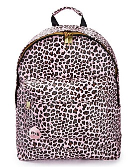 Mi Pac Leopard Printed Backpack