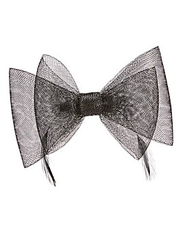 Black Bow Clip Fascinator