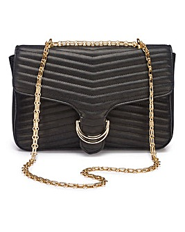 Olivia Chevron Quilted Shoulder Bag