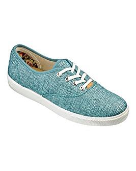 Hotter Mabel Canvas Lace Up Shoes E Fit