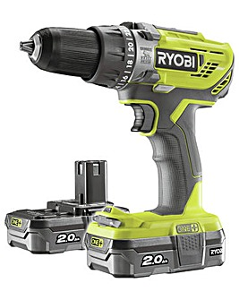 Ryobi ONE+ 2Ah Drill with 2 Batteries