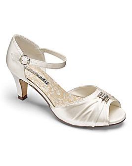 Heavenly Soles Satin Shoes E Fit