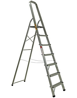 Rhino 7 Tread High Handrail Stepladder