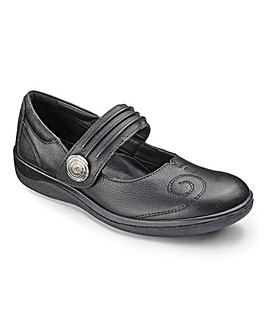 Padders Leather Bar Shoes Extra Wide EEE Fit