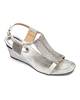 Lotus Shimmer Panel Sandals EEE Fit