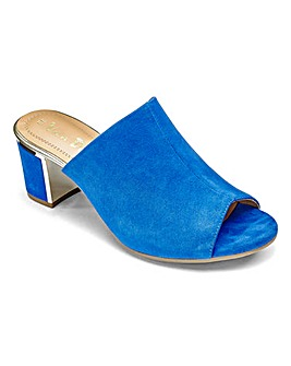 Van Dal Suede Peep Toe Mule Sandals Wide EE Fit