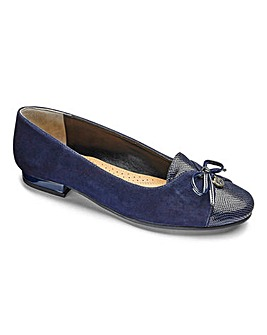 Van Dal Bow Trim Leather Shoes EE Fit