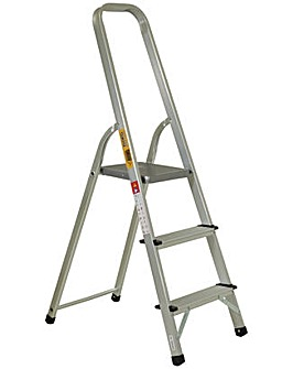 Rhino 3 Tread High Handrail Stepladder