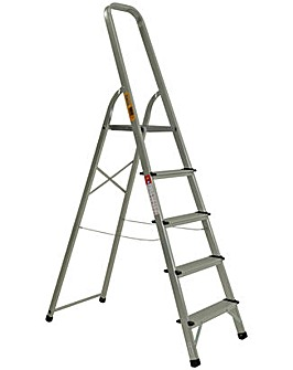 Rhino 5 Tread High Handrail Stepladder